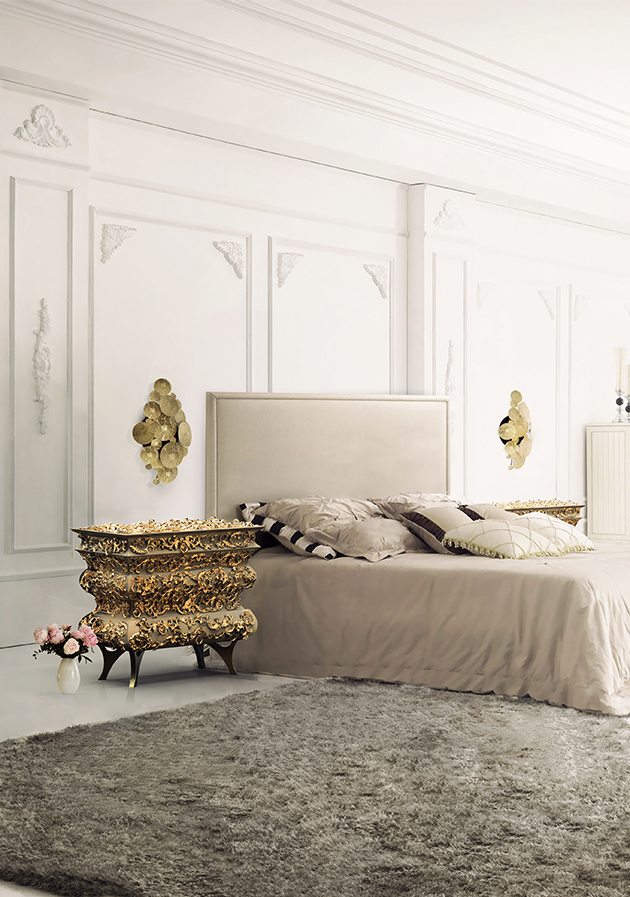 """Modern bedroom design ideas"" Isaloni 2014: Modern Bedrooms Isaloni 2014: Modern Bedrooms crochet bedside table boca do lobo 0"