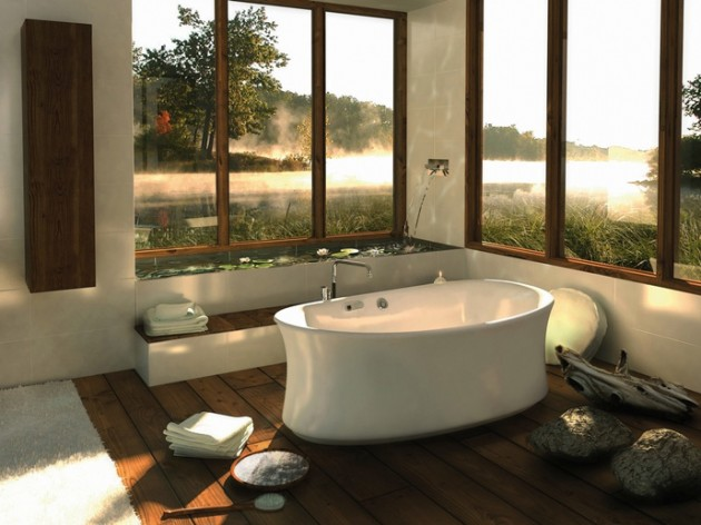 """Comtemporary bathroom inspired in nature"" 10 nature inspired bathroom designs 10 Nature inspired bathroom designs Natural Bathroom ArchitectureArtDesigns 7 630x472"