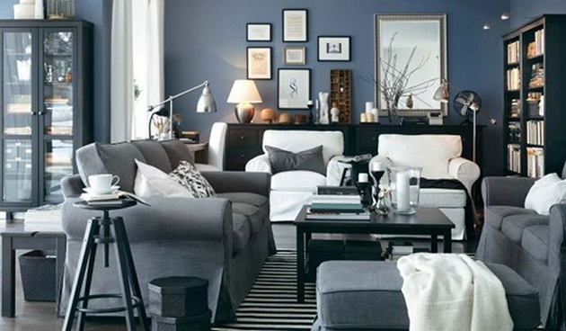 navy and grey living room 5 Traditional Living Room Design Ideas The Best  gray paint colors. Best Drawing Room Designs