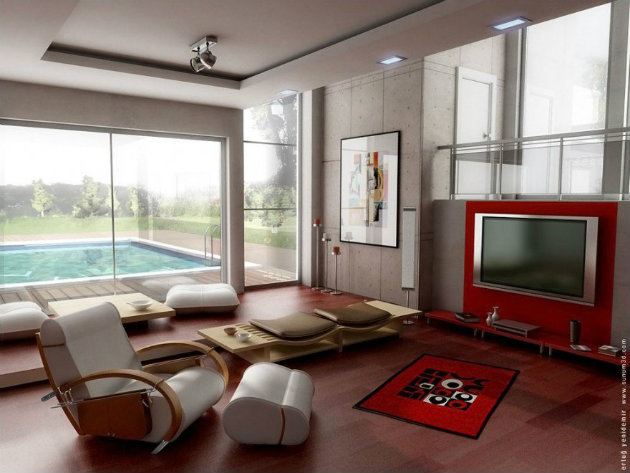 10 Living Room Interior Designs 10 Living Room Interior Designs Modern Living Room TV Wall Units 10 in Vibrant Red Color 880x6601