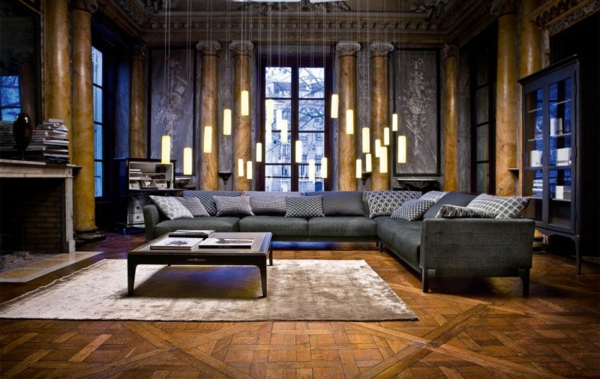the best modern sofas for living room The Best Modern Sofas for Living Room black couch living room furniture roche bobois5