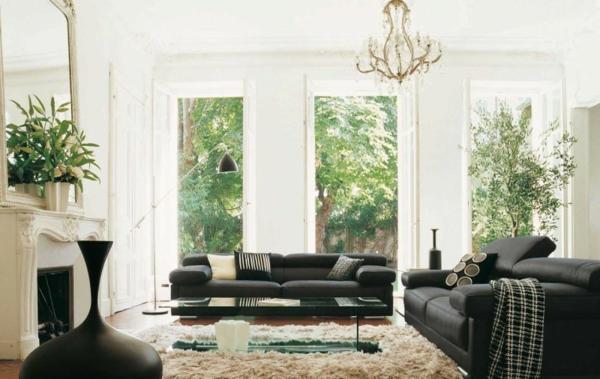 The Best Modern Sofas for Living Room the best modern sofas for living room The Best Modern Sofas for Living Room black sofa living room furniture roche bobois4