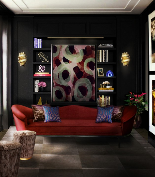 How to choose a modern sofa How To Choose a Modern Sofa How To Choose a Modern Sofa colette sofa tresor stool chloe sconce blackcobra rug koket projects red e1417082785263