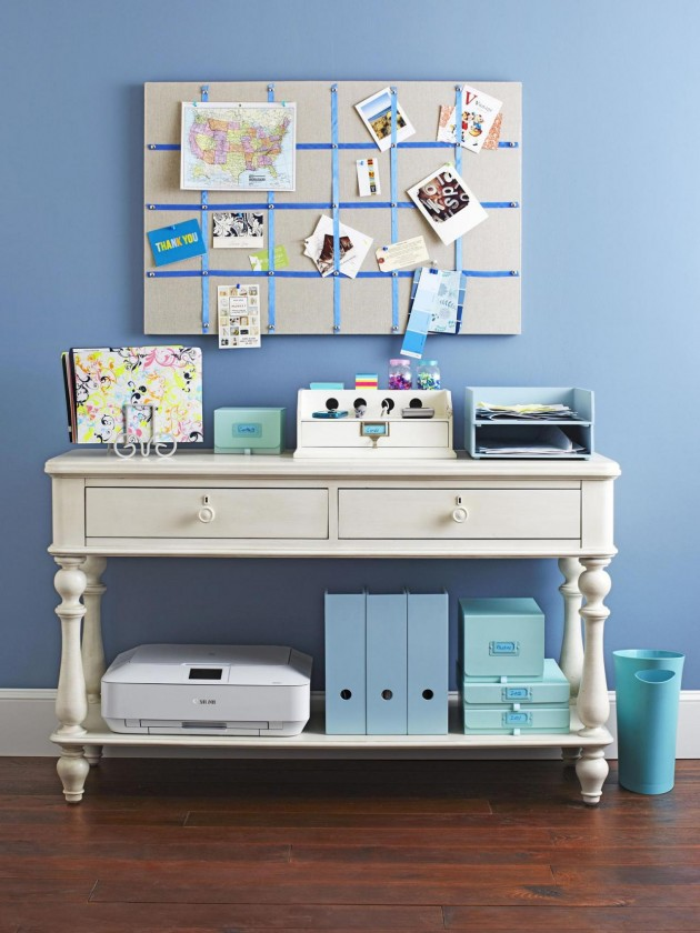 4 Innovative Ideas To Decorate Your Console Tables 4 Innovative Ideas To Decorate Your Console Tables 4 Innovative Ideas To Decorate Your Console Tables console table as an office station e1417177539949