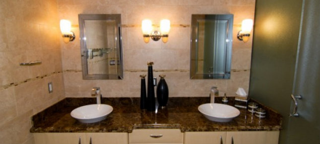 How to choose the best bathroom lighting How to choose the best bathroom lighting elegant small bathroom design ideas with shining lamps bathroom decorating ideas twins washbasin with mirror also metal shower and lamps in the wall for bathroom design wpthemesnow bathroom designs sm