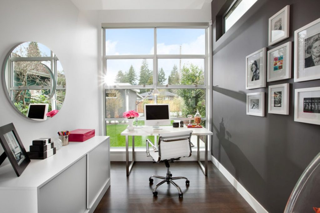 home office spaces good home office modern home office narrow small space with swivel chair atlas chunky oak hidden home office