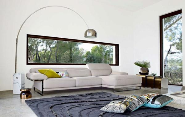 Black white modern design couches