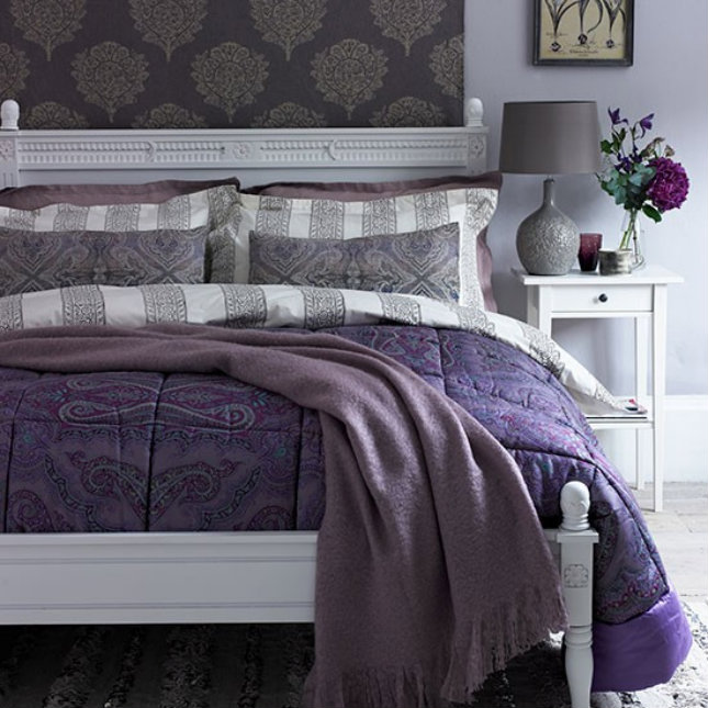 Top 10 bedroom design ideas Top 10 bedroom design ideas Top 10 bedroom design ideas Deep Heather Paisley Bedroom Country Homes and Interiors Housetohome