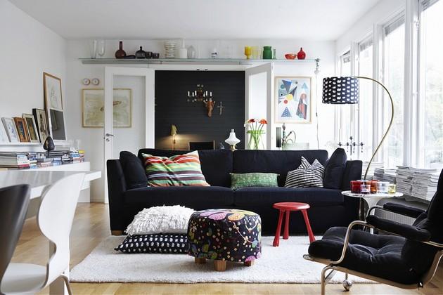 Living Room Decor with a Black Velvet Sofa Living Room Decor with a Black Velvet Sofa Living Room Decor with a Black Velvet Sofa 13