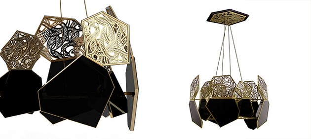 The Best Black and Gold Furniture for a Luxury House The Best Black and Gold Furniture for a Luxury House Koket Hypnotic Chandelier