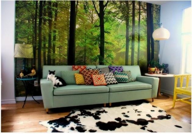 35 Beautiful Wallpaper for Living Room