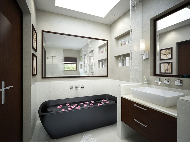 30 Bathroom Ideas: Elegant & Dreamy Spaces 30 bathroom ideas: elegant and dreamy spaces 30 Bathroom Ideas: Elegant and Dreamy Spaces Room Decor Ideas Beautiful Bathrooms Bathroom Design Bathroom Design Ideas Room Ideas Modern Bathroom 12