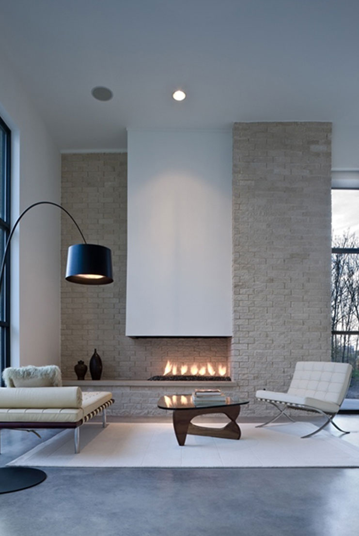 20 lovely living rooms with fireplaces for Living room design ideas with fireplace