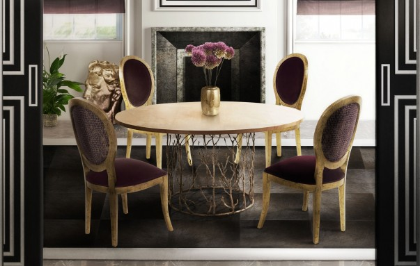 Glamourous Dining Room Design 10 Round Dining Tables for a Glamourous Dining Room Design Room Decor Ideas Room Ideas Room Design Luxury Interior Design Luxury Dining Room Luxury Dining Table Modern Dining Table 131 603x383