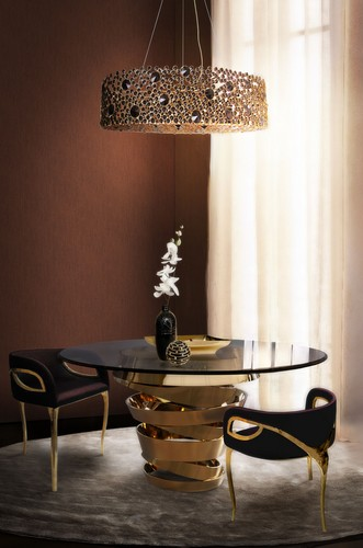 10 Round Dining Tables for a Glamourous Dining Room Design Glamourous Dining Room Design 10 Round Dining Tables for a Glamourous Dining Room Design Room Decor Ideas Room Ideas Dining Room Glamourous Dining Rooms Round Dining Table Luxury Interior Design Luxury Dining Tables 8 KOKET