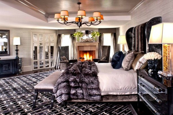How to Decorate with Luxury Hide Rugs New Style at Home with Furs How to Get a New Style at Home with Furs Room Decor Ideas How to Decorate with Luxury Hide Rugs Luxury Rugs Luxury Interior Design Kyle Bunting Bedroom Design 603x402