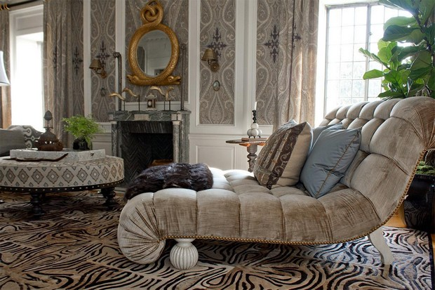 Redefining luxury with natural hide rugs for Living room ideas with zebra rug
