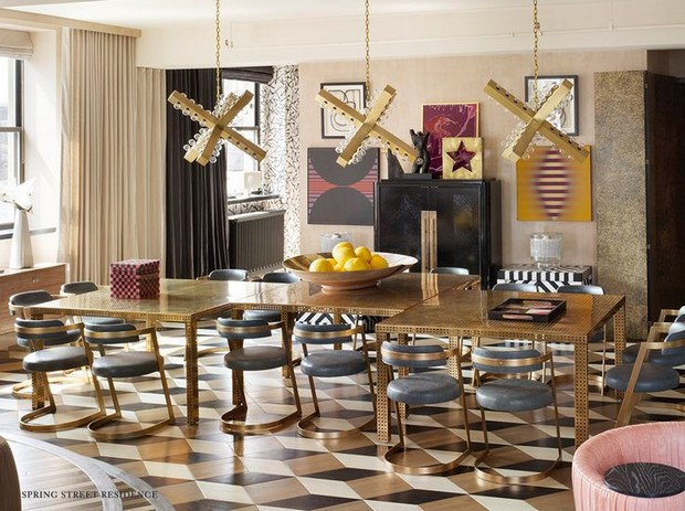 2016 Trends for Interiors: Formal Dining Rooms Are Back Deluxe Chandeliers 10 Deluxe Chandeliers you need to See at Maison et Objet Room Decor Ideas Room Ideas 2016 Trends for Interiors Formal Dining Rooms Are Back Dining Room Design Dining Room Ideas Home Decorators Kelly Wearstler Project 1
