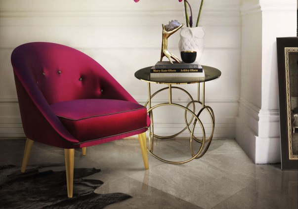 Vintage Chairs Trend Alert: Vintage Chairs for a Spring Living Room nessa chair kiki side table koket projects e1457979394684 603x423