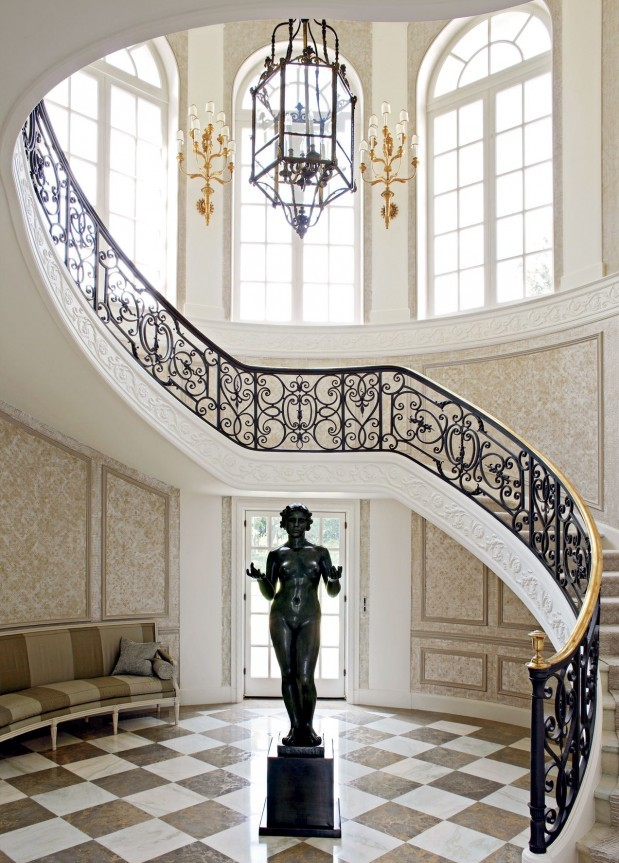Eclectic Hallway Designs by Peter Marino