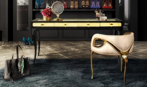 Luxury Dressing Tables Luxury Dressing Tables to Improve the Bedroom Design eternity chandelier chandra chair exotica desk koket projects 603x356