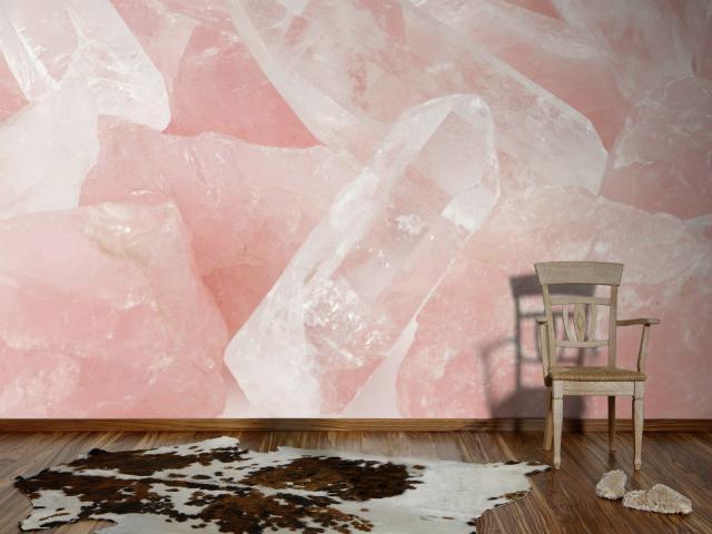 Color Addiction: Rose Quartz rose quartz Color Addiction: Rose Quartz rose quartz wallcovering