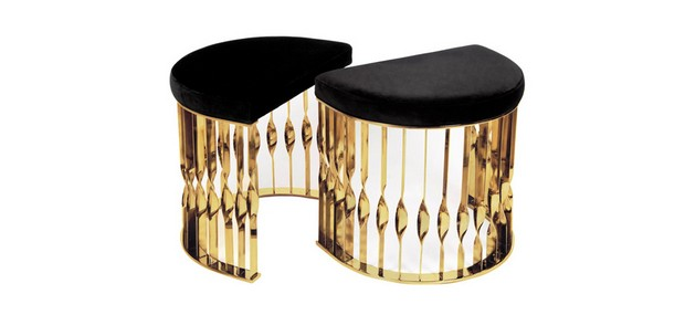 10 Beautiful Luxury Stools to use on the Living Room Design