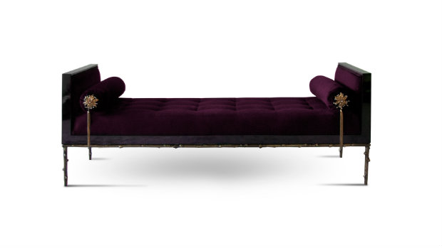 The Prive daybed by KOKET is a tempting blend of sassy and sweet.