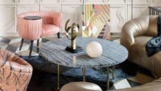 Marble Designs on Home Interiors Trend Alert: Marble Designs on Home Interiors Room Decor Ideas Living Room Ideas by Kelly Wearstler to copy for Summer Luxury Living Room Living Room Design 8 233x132