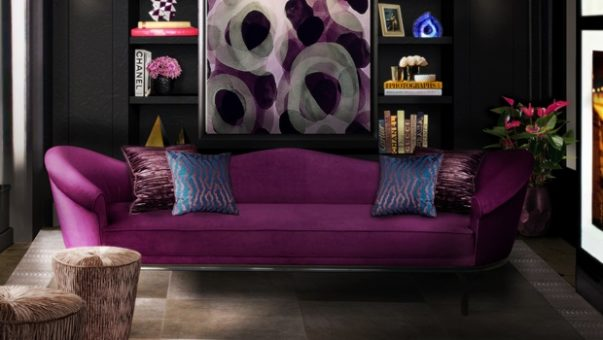 decorate your home with dark colors 8 Tips to Decorate your Home with Dark Colors colette sofa tresor stool chloe sconce blackcobra rug koket projects 603x340