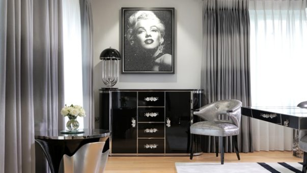 Art Deco for Home Interiors Trend Alert: The Comeback of Art Deco for Home Interiors peter staunton interior design rock n roll chic harbury country house marilyn monroe dining room 10 603x340