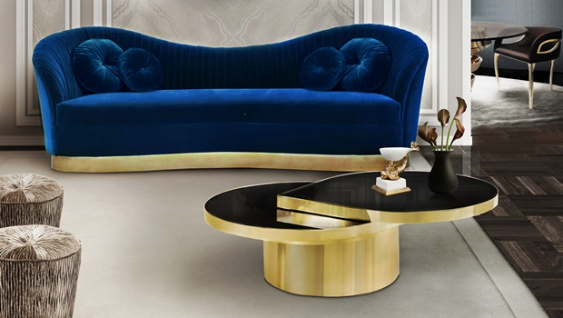 Playful Luxury Living Room Autumn Trends: The Playful Luxury Living Room reve mirror kelly sofa tears cocktail table koket projects1 2