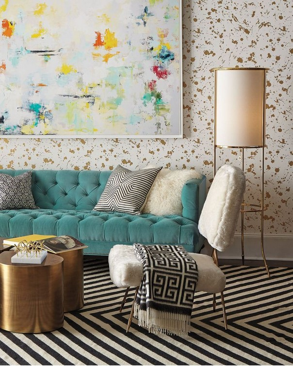 living rooms by jonathan adler that bring color to winter living rooms by jonathan adler living - Jonathan Adler Living Room