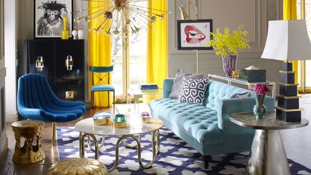 living rooms by jonathan adler Living Rooms by Jonathan Adler that Bring Color to Winter room decor ideas jonathan adler