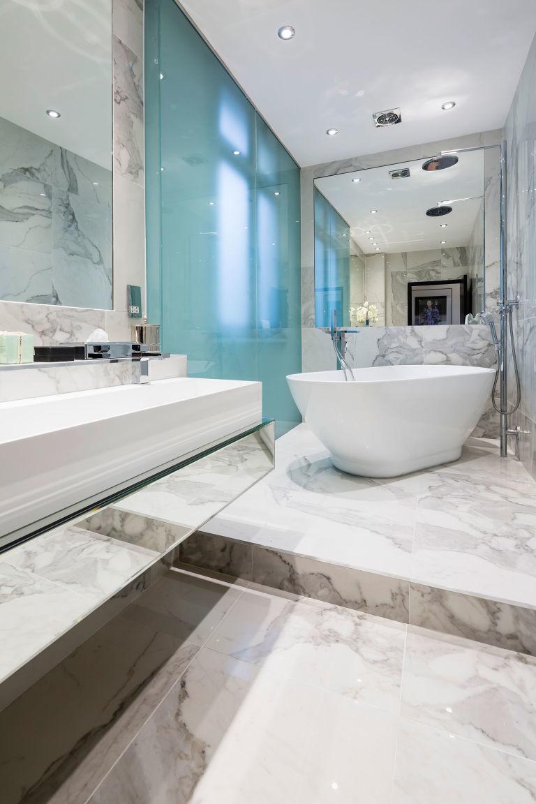 Celebrity Homes: Alexander McQueen House Restoration in London bathroom