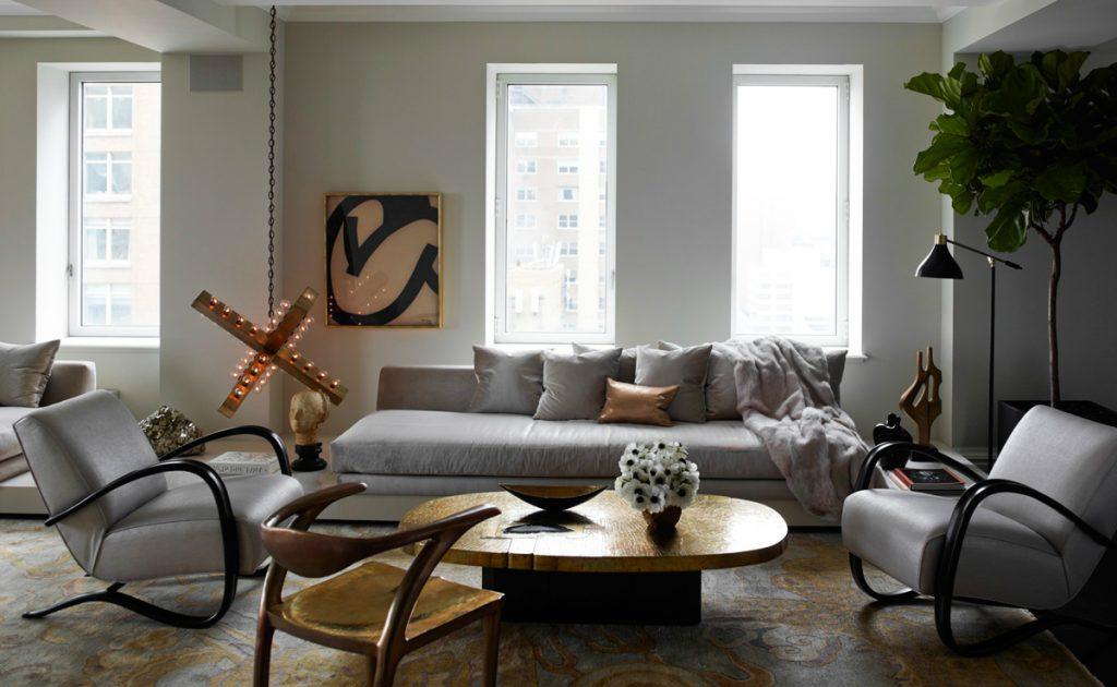 Celebrity Homes: Ivanka Trump Stylish Apartment in Manhattan Living Room Ideas