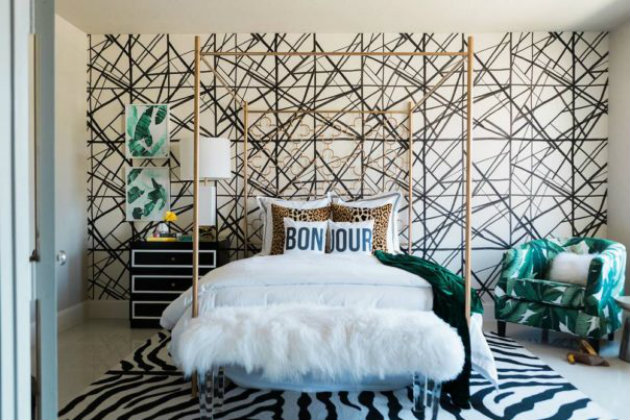 kelly wearstler Kelly Wearstler Shares the Best Tips to Choose Wallpapers Room Decor Ideas Beautiful Bedrooms by Kelly Wearstler to Copy this Summer Luxury Bedroom Luxury Interior Design Bedroom Ideas 8 e1464791858504