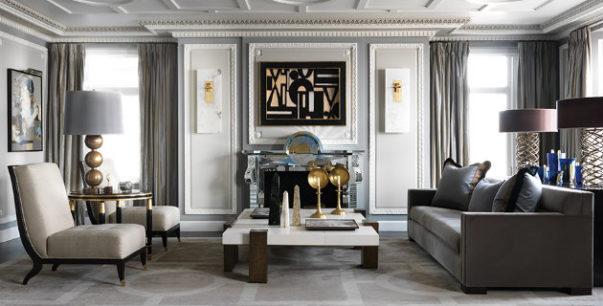 Jean-Louis Deniot Jean-Louis Deniot New Family French Style Apartment JeanLouisDeniot p256 257 603x306