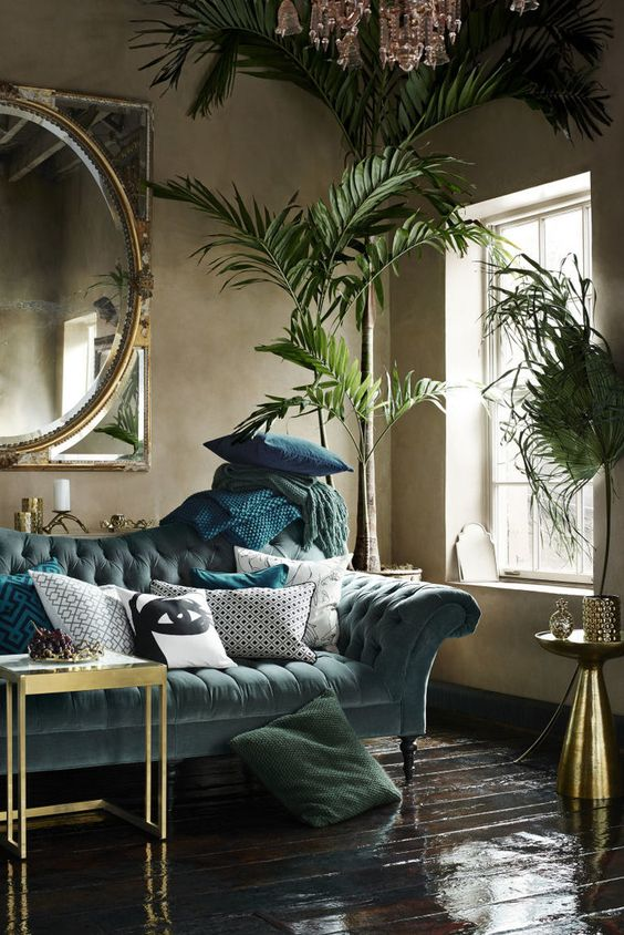 Tropical Green Rooms Decorating Ideas For Summer