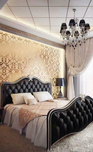 Interior Design Tips Interior Design Tips: Cool Colour Schemes for Your Master Bedroom Room Decor Ideas Trendy Color Schemes for Master Bedroom Color Palette Luxury Bedroom Black Gold 2 304x493
