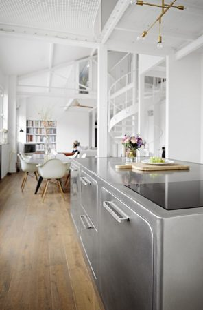 How to Have a Parisian-like Industrial Style Kitchen Industrial Style Kitchen How to Have a Parisian-like Industrial Style Kitchen How to Have a Parisian like Industrial Style Kitchen 4 296x450