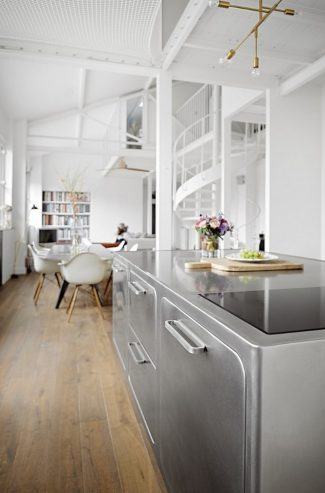 How to Have a Parisian-like Industrial Style Kitchen Industrial Style Kitchen How to Have a Parisian-like Industrial Style Kitchen How to Have a Parisian like Industrial Style Kitchen 4 325x493