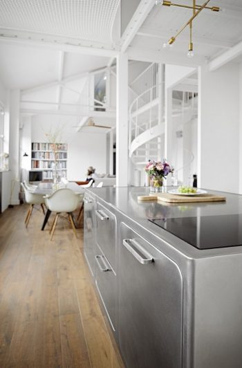 How to Have a Parisian-like Industrial Style Kitchen Industrial Style Kitchen How to Have a Parisian-like Industrial Style Kitchen How to Have a Parisian like Industrial Style Kitchen 4 350x532