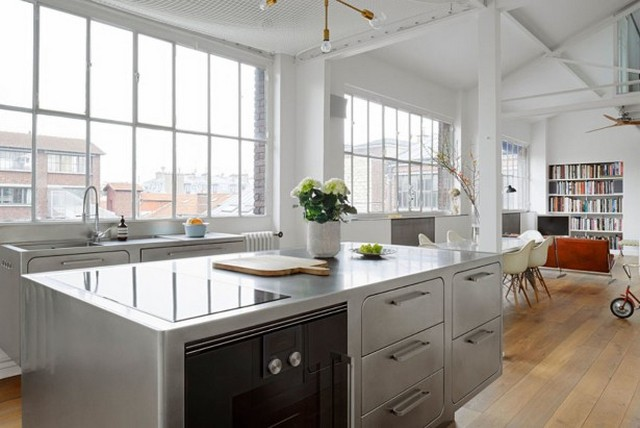 How to Have a Parisian-like Industrial Style Kitchen Industrial Style Kitchen How to Have a Parisian-like Industrial Style Kitchen How to Have a Parisian like Industrial Style Kitchen 6
