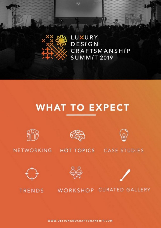 Luxury Design and Craftsmanship Summit 19 – What's New Luxury Design and Craftsmanship Summit 19 Whats New 4