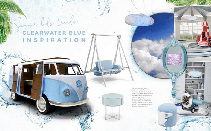 Interior Design Trends 2019 - Clearwater Blue for Kids  Interior Design Trends 2019 – Clearwater Blue for Kids Interior Design Trends 2019 Clearwater Blue for Kids 6